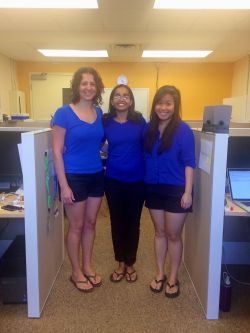 Carlton group inadvertently matching outfits (Summer 2014)