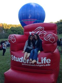 Khoi & Caroline at Rutgers Community Day (Fall 2014)